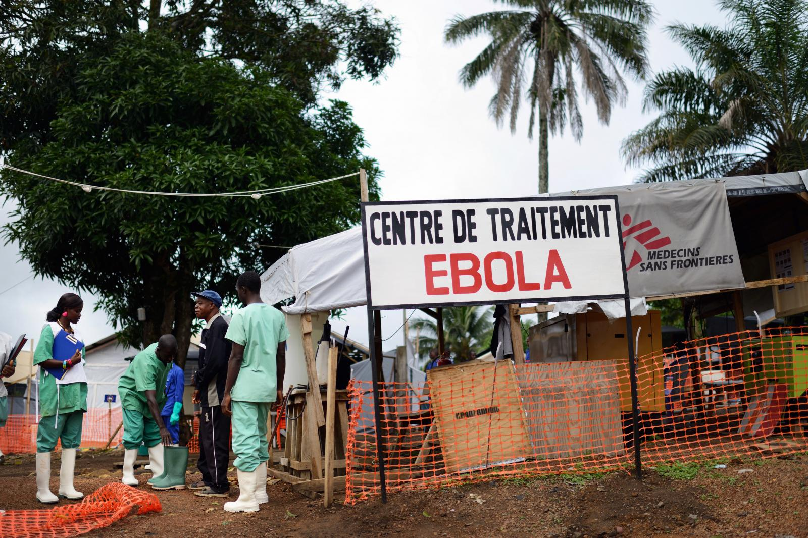 An Ebola treatment center in Gueckedou, Guinea, July 2014