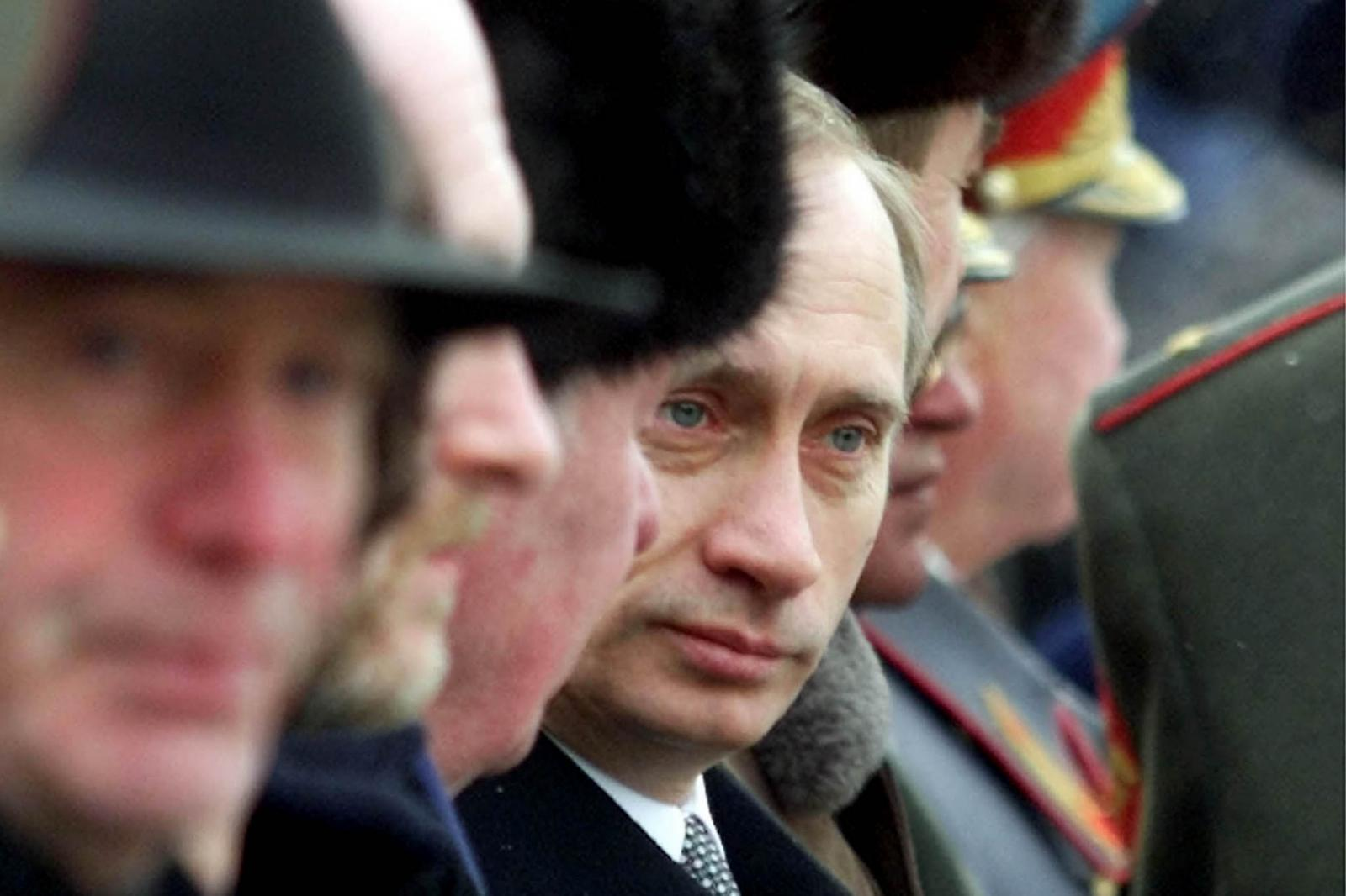 Putin at a military ceremony in Moscow, February 2000