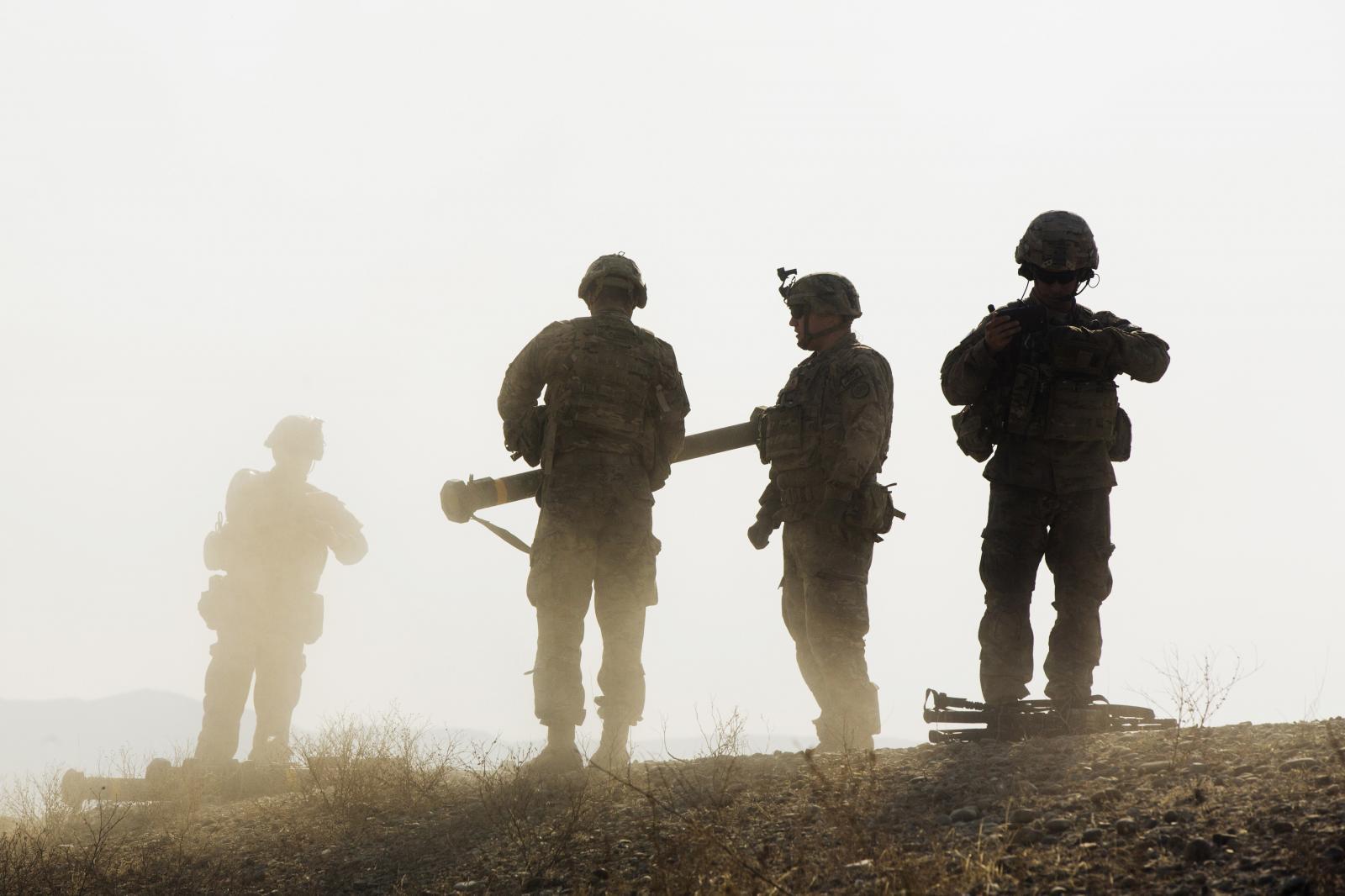 U.S. soldiers in Laghman Province, Afghanistan, December 2014